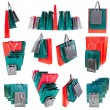 Stock Photo: Several paper shopping bags