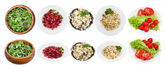 Set of typical salads — Stock Photo