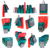Several paper shopping bags — Foto de Stock