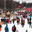 Stock Photo: Crowds of townspeople skating rink