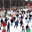 Stock Photo: Crowds of townsfolk skating rink in Gorky Park