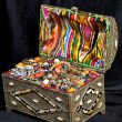 Ancient arabic treasure chest — Stock Photo