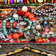 Stock Photo: Antique jewelry in ancient treasure chest