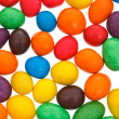 Multi-colored chocolate candy dragees — Stock Photo