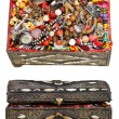 Set of ancient decorated treasure chests — Stock Photo #38625495