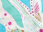 Patrón abstracto en batik de seda hecho a mano — Foto de Stock