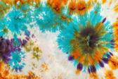 Abstract pattern on handmade silk batik — Stock Photo