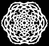 Snowflake on black paper — Stock Photo