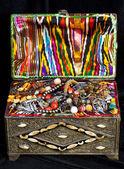Ancient arabic treasure chest — Stock Photo