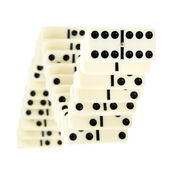 Serpentine from dominoes — Stock Photo