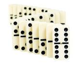 Zigzag from dominoes — Stock Photo