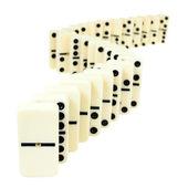 Zigzag from domino tiles i — Stock Photo