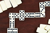 Zigzag in dominoes game — Stock Photo