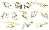 Set of zigzags from domino tiles — Stock Photo