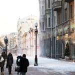 Historical pedestrian Arbat street in Moscow — Stok fotoğraf