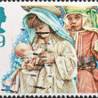 Children as Mary and Joseph with infant Jesus — Stock Photo