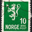 Norwegian monarchy lion — Stock Photo