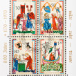 Pictures from medieval manuscript Manesse Codex — Stock Photo #39467473