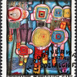 Hundertwasser painting Human Rights — Stock Photo #39467607