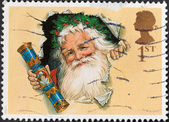 Father Christmas with Traditional Cracker — Стоковое фото