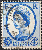 Queen Elizabeth by Dorothy Wilding on ultramarine — Stock Photo