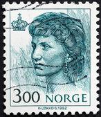 Portrait of norwegian Queen Sonja — Stock Photo