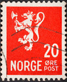 Norwegian monarchy lion — Stock Photo