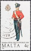 Uniform der Subalternen royal Malta Fencibles 1839 — Stockfoto