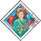 First woman astronaut Valentina Tereshkova — Stock Photo