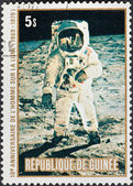 Apollo Moon Landing and first step on The Moon — Stock Photo