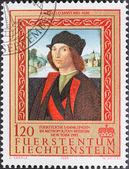 Porträtt av man av raffaello santi — Stockfoto
