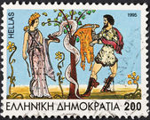 Golden fleece myth hero Jason and Medea — Stock Photo