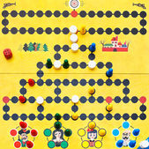 Top view of Malefiz - family board game — Stock Photo