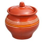 Closed earthenware pot — Foto Stock