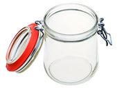 Swingtop Bale glass jar isolated on white — Stock Photo