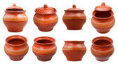 Set of earthenware pots — Stock Photo