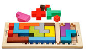 Katamino - puzzle board game — Stock Photo