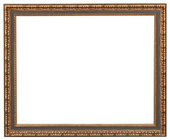 Classic style picture frame with cut out canvas — Stock Photo