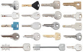 Set of different door keys — Foto Stock