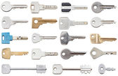Collection of different house keys — Stock Photo