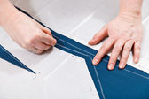 Drawing of pattern cutting for sewing — Stock Photo