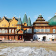 Stock Photo: Facade of Great Wooden Palace in Kolomenskoe