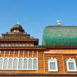 Stock Photo: Windows of Great Wooden Palace in Kolomenskoe