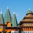 Stock Photo: Decorated towers and roof of Great Wooden Palace