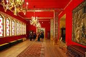 Tourists in Great Wooden Palace in Kolomenskye — Stock Photo