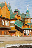 Porch Great Wooden Palace in Kolomenskoe, Moscow — Stock Photo