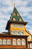 Tower of Great Wooden Palace in Kolomenskoe Moscow — Stock Photo