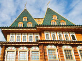 Towers of Great Wooden Palace in Kolomenskoe — Stock Photo