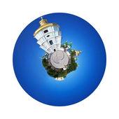钟楼和在基辅圣索菲亚大教堂 — 图库照片