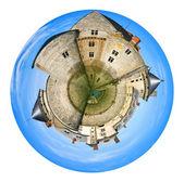 Torres panorama esférico de castillo medieval — Foto de Stock